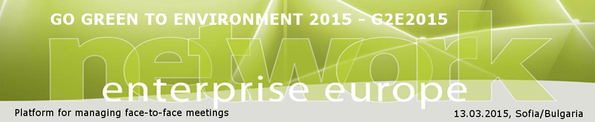 GO GREEN TO ENVIRONMENT 2015